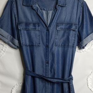 Velvet Heart Chambray Denim Dress